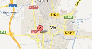 Mapa Vic